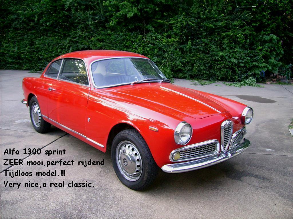 alfa romeo 1300 sprint very nice joop stolze classic cars. Black Bedroom Furniture Sets. Home Design Ideas